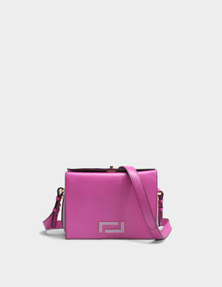 Lancel Pia Crossbody Bag in Cyclamen and Lilac Suede and Smooth Leather