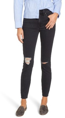 Women's Madewell 10-Inch High Rise Ripped Skinny Jeans $135 thestylecure.com