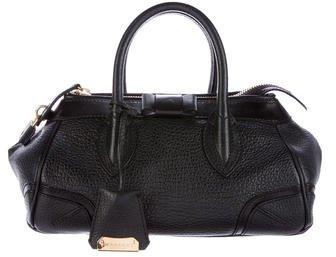 Burberry Burberry Prorsum Textured Leather Handle Bag