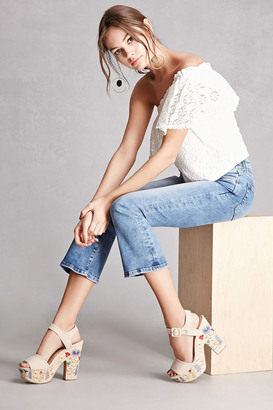 FOREVER 21+ Yoki Embroidered Sandals $45 thestylecure.com
