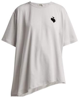 Vika Gazinskaya Flocked Spade Cotton T Shirt - Womens - Grey Multi