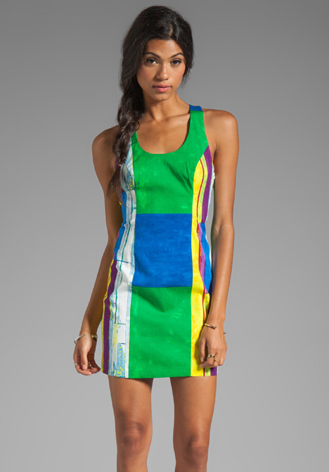 Plenty by Tracy Reese Cubist Watercolor Sexy Shift Dress