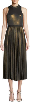Donna Morgan Sleeveless Metallic Jersey Cocktail Dress