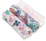 Aden Anais aden + anais White Label Watercolor Garden 3-Pack Swaddling Cloths