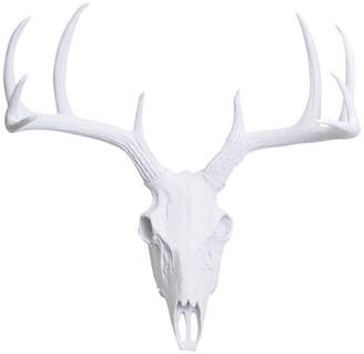 White Faux Taxidermy Faux Resin Deer Skull Wall Mount