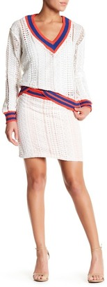 endless rose Chic Boulevard Open Knit Skirt $55 thestylecure.com
