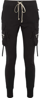Rick Owens Cotton-jersey Track Pants - Black