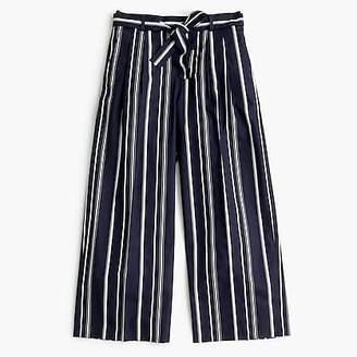 J.Crew Wide-leg cropped pant in stripe
