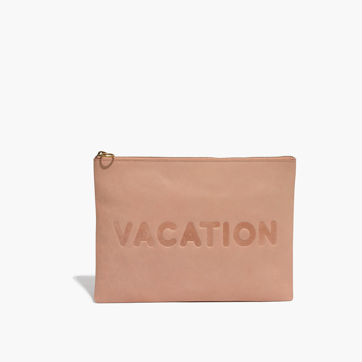 The Oversized Leather Pouch Clutch: Vacation Edition