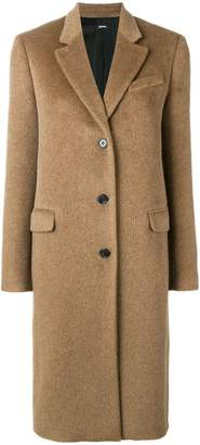 Jil Sander Navy classic single breasted coat
