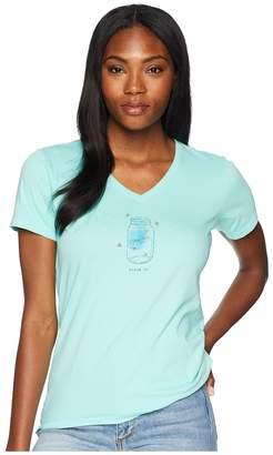 Life is Good Fireflies Shine On Crusher Vee Tee Women's T Shirt