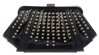 Zac Posen Patent Leather Studded Clutch