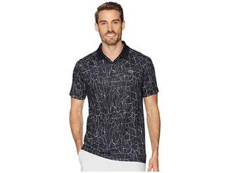 Lacoste Sport Novak Djokovic Short Sleeve Ultra Dry Polo W/ All Over Net Print Ergnomic Back