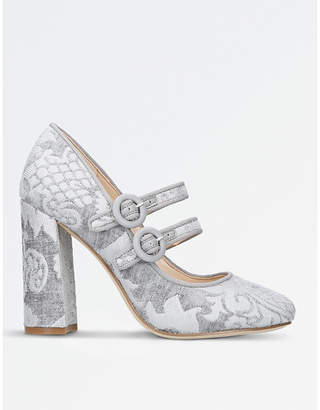 Nine West Dabney patterned fabric court shoes