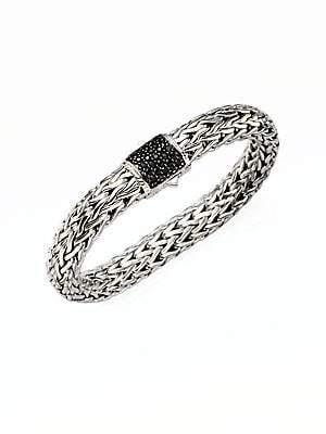 John Hardy Women's Classic Chain Black Sapphire & Sterling Silver Large Bracelet