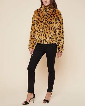 Juicy Couture Faux Leopard Zip Jacket