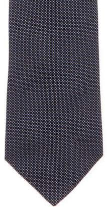 Ralph Lauren Purple Label Dot Jacquard Silk Tie