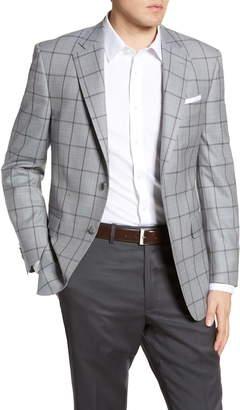 Peter Millar Flynn Windowpane Wool Sport Coat