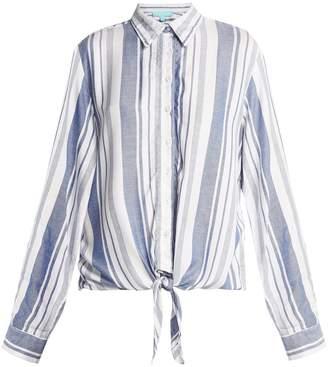Melissa Odabash Inny striped beach shirt