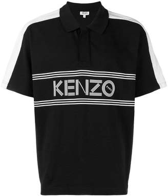 Kenzo logo short-sleeve polo top