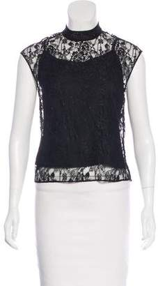 Alice + Olivia Lace Sleeveless Blouse w/ Tags