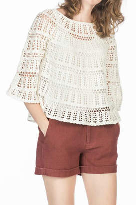Leo & Sage Crochet Sweater