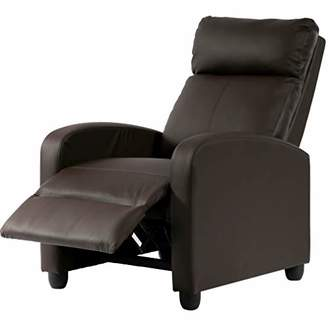 Recliner Chair Single Sofa PU Leather Modern Reclining Seat Home Theater Seating for Living Room
