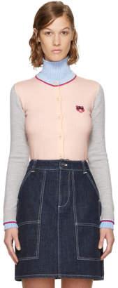 Kenzo Pink Tiger Crest Cardigan