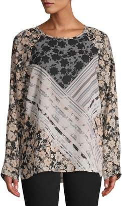 Calvin Klein Printed Ruched Top