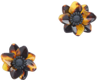 Vineyard Vines Tortoise Flower Earrings