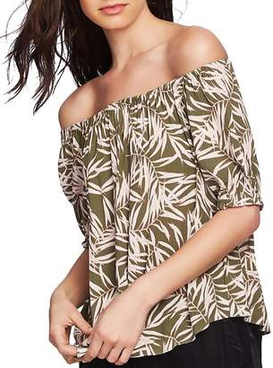 1 STATE 1.STATE Desert Palms Off-the-Shoulder Top