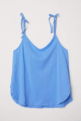 H&M V-neck Camisole Top - Blue
