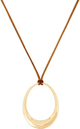 Brooke Shields Timeless BROOKE SHIELDS Timeless Open Oval On Cord Necklace