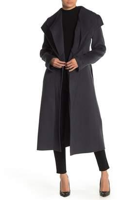 Tahari Elliot Wool Blend Wrap Coat