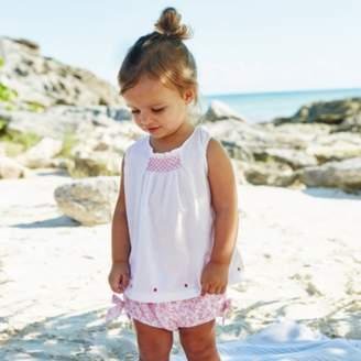 The White Company Amelia Floral Blouse & Bloomer Set