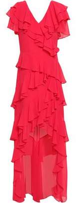 Badgley Mischka Ruffled Georgette Gown