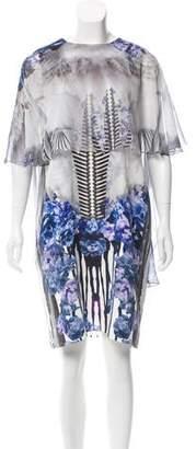 Prabal Gurung Floral Print Silk Dress