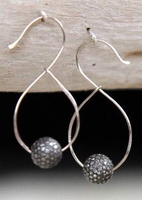 Designs By Alina Diamond Swan Earrings In 18k White Gold