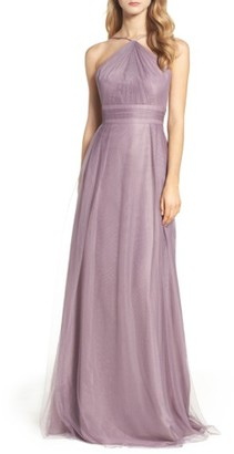 Women's Monique Lhuillier Bridesmaids Tulle Halter Style Gown $298 thestylecure.com