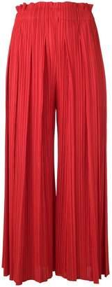 Pleats Please Issey Miyake plissé wide-leg trousers