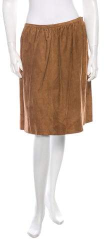 Ralph Lauren Collection Suede Skirt w/ Tags