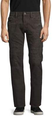 Cult of Individuality Rebel Straight-Fit Distressed Jeans