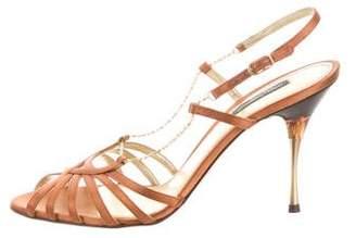 Dolce & Gabbana Satin Crossover Sandals