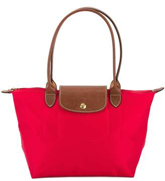 Longchamp Red Nylon Canvas Le Pliage Small Tote Bag (New with Tags)