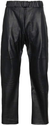 Willy Chavarria Buffalo Leather Trousers
