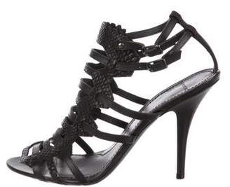 Givenchy Embossed Cage Sandals