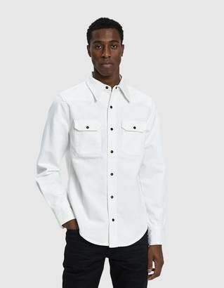 Calvin Klein Jeans Est. 1978 Western Shirt in White Rinse