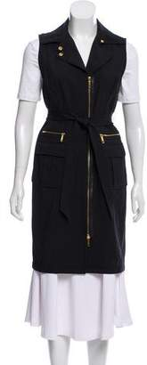 Lafayette 148 Long-Line Zip-Up Vest