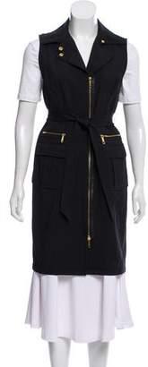 Lafayette 148 Long-Line Zip-Up Vest