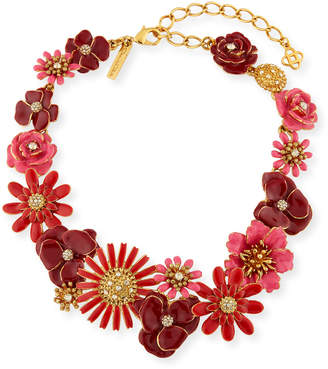 Oscar de la Renta Small Gilded Floral Collar Necklace
